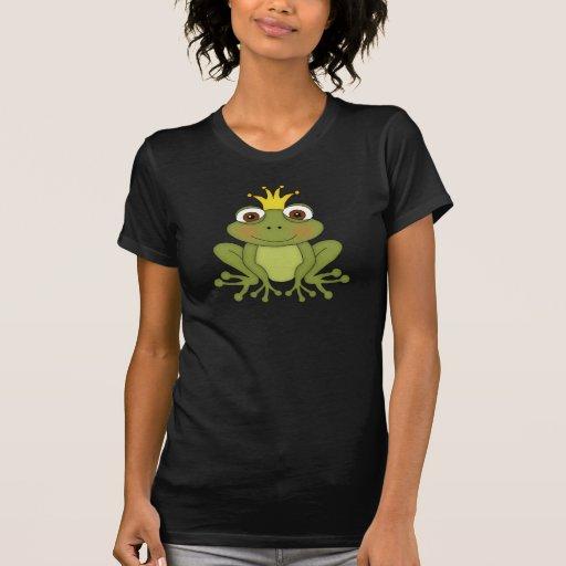Príncipe With Crown de la rana del cuento de hadas Camisetas
