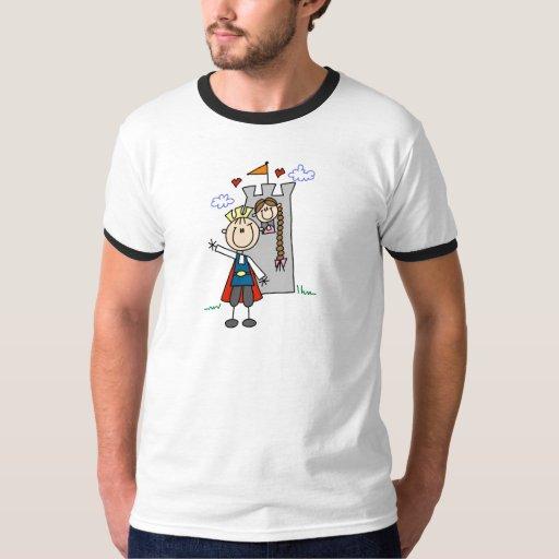 Príncipe y chica en camisetas y regalos de la playeras