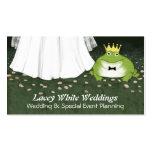 Príncipe y novia - boda de la rana del cuento de h tarjeta personal