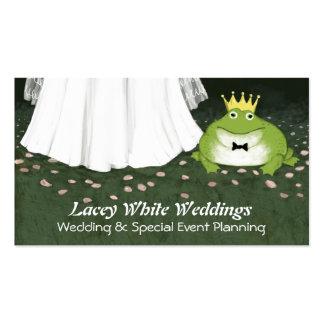 Príncipe y novia - boda de la rana del cuento de h tarjetas de visita
