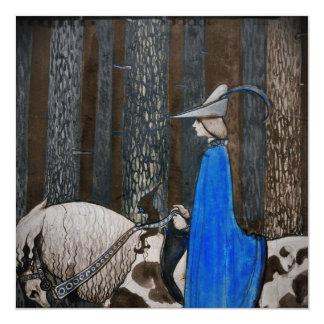 """Príncipe y paseo de Tomten a través de las maderas Invitación 5.25"""" X 5.25"""""""