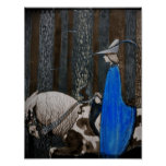 Príncipe y paseo de Tomten a través de las maderas Posters