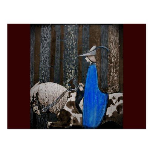 Príncipe y Tomte (gnomo) en el bosque