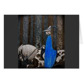 Príncipe y Tomte (gnomo) en el bosque Tarjeton
