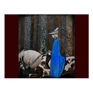 Príncipe y Tomte (gnomo) en el bosque Postales