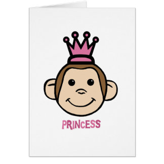 Príncipes del mono tarjeta de felicitación