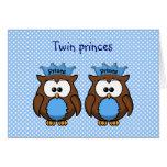 príncipes gemelos del búho tarjetón