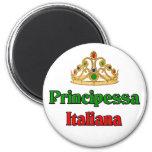 Principessa Italiana (Italian Princess) 2 Inch Round Magnet