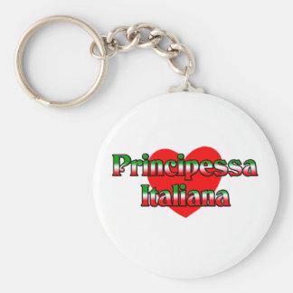 Principessa Italiana (Italian Princess) Basic Round Button Keychain