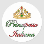 Principessa Italiana (Italian Princess) Classic Round Sticker