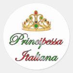 Principessa Italiana (Italian Princess) Round Stickers