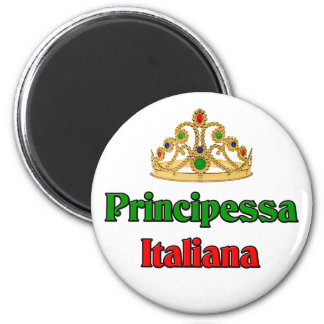 Principessa Italiana (princesa italiana) Imán Redondo 5 Cm