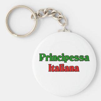 Principessa Italiana (princesa italiana) Llavero Redondo Tipo Pin
