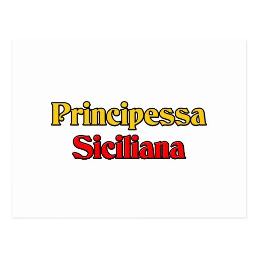 Principessa Siciliana Postcard