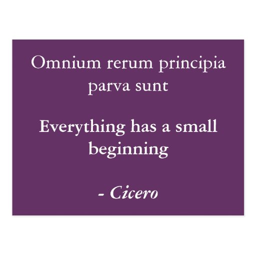 Principia del rerum de Omnium Postales