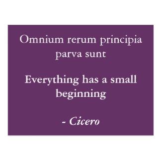 Principia del rerum de Omnium Tarjeta Postal