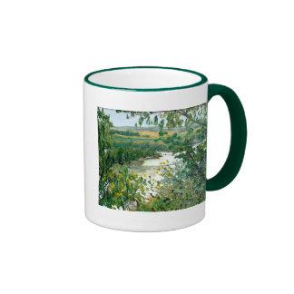 Principia Overlook Landscape Oil Painting Ringer Mug
