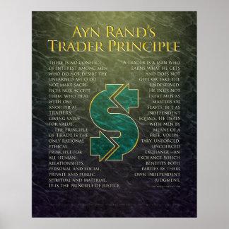 """""""Principio del comerciante """" de Ayn Rand Poster"""