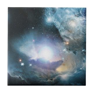 Principio del universo azulejo cuadrado pequeño