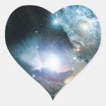 Principio del universo pegatinas de corazon