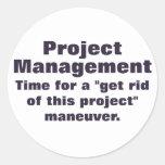 Principios de gestión del proyecto pegatina redonda