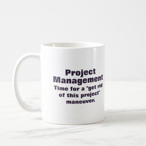 Principios de gestión del proyecto taza básica blanca