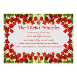 Principios de Reiki con los rosas Impresiones