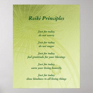 Principios de Reiki Póster