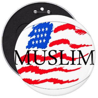 principios de vida - americano musulmán pin redondo de 6 pulgadas