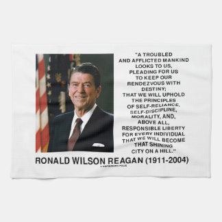 Principios del destino de Reagan que brillan la Toallas
