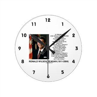 Principios del destino de Reagan que brillan la Reloj Redondo Mediano