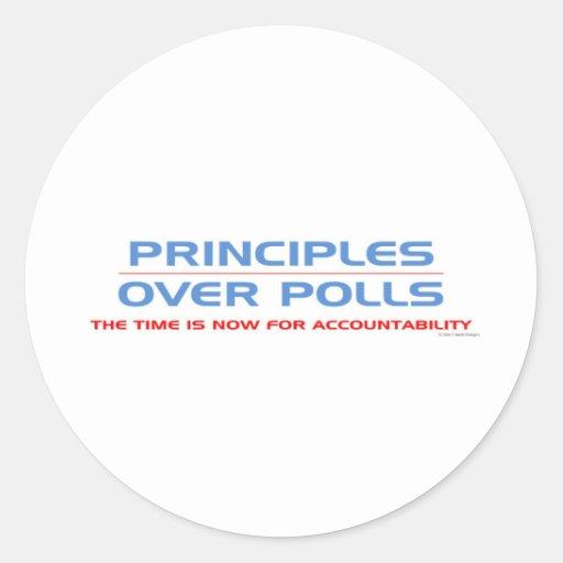 Principios sobre encuestas pegatinas redondas