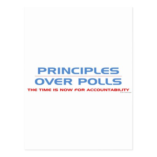Principios sobre encuestas tarjetas postales