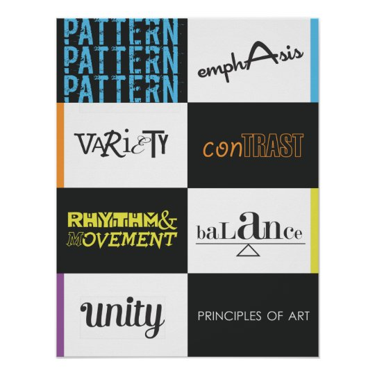 Eight Principles Of Art : Principles of art poster zazzle
