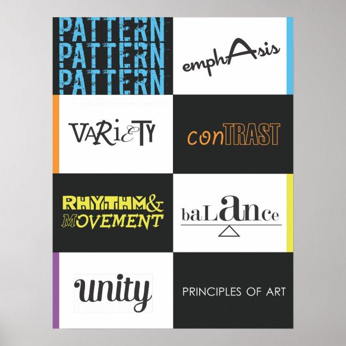 9 Principles Of Art : Principles of art poster zazzle