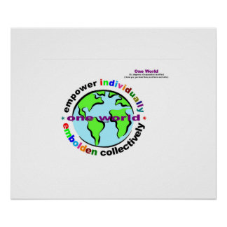 principles of life - 1world 6degrees of separation poster