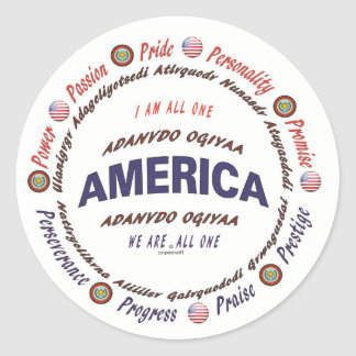 principles of life - american indian, cherokee classic round sticker