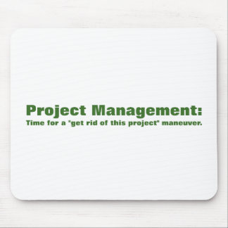 Principles of project management mouse pad