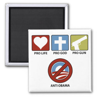 Princples Against Obama 2 Inch Square Magnet