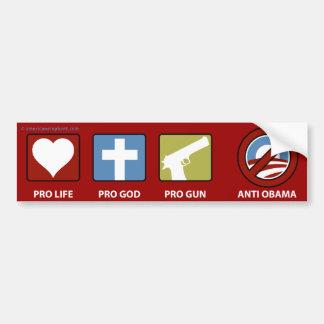 Princples Against Obama Bumper Sticker
