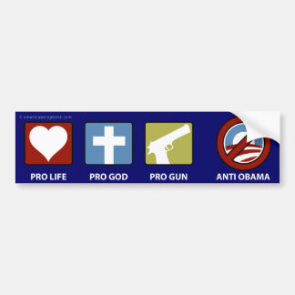 Princples Against Obama Bumper Stickers