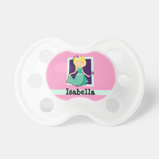 Priness, Green Dress; Pink & White Stripes BooginHead Pacifier