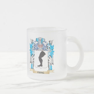 Pring Coat of Arms - Family Crest 10 Oz Frosted Glass Coffee Mug