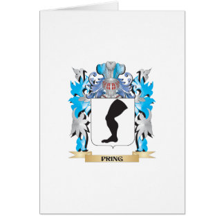 Pring Coat of Arms - Family Crest Greeting Cards