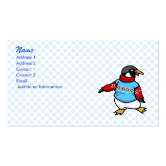 Pringle Penguin Business Card