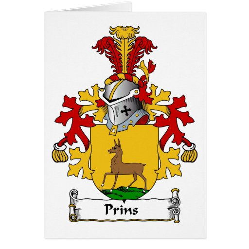 Prins Family Crest Card