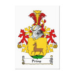 Prins Family Crest Stretched Canvas Prints