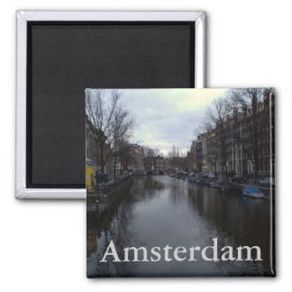 Prinsengracht canal, Amsterdam 2 Inch Square Magnet
