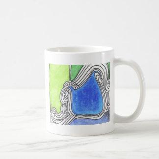 Print 14 Colorful Line Art Illustration Coffee Mug