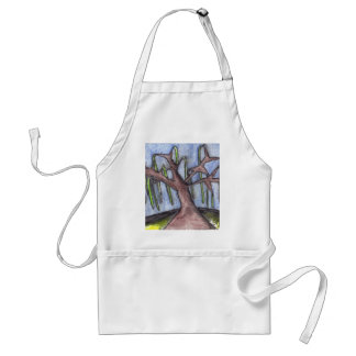Print 8 Droopy Depressed Tree in the Middle of No Adult Apron